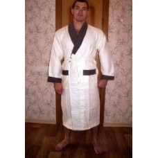 Мужской халат вафельный Nusa ns 15120 крем