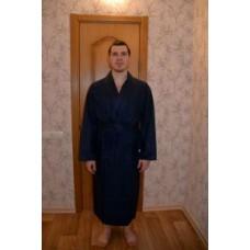 Мужской халат вафельный Nusa ns 12680 синий