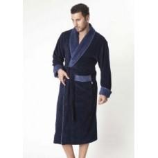 Мужской халат велюровый Nusa ns 1140-1 синий