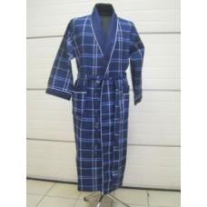 Мужской халат вафельный Nusa ns 10020 синий