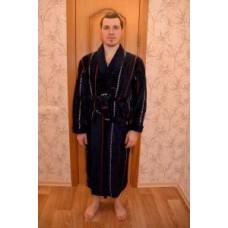 Мужской халат вафельный Nusa ns 10100 синий