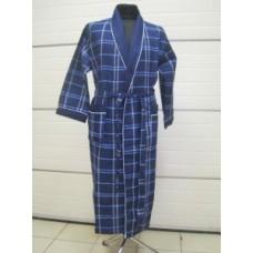 Мужской халат вафельный Nusa ns 10050 синий