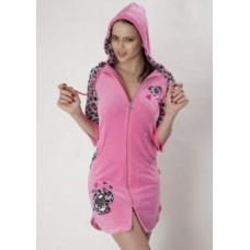 Женский халат велюровый Nusa ns 053 Розовый
