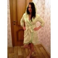 Женский халат махровый Nusa ns 031 Салатовый