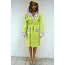 Женский халат махровый Nusa ns 3040 Салатовый