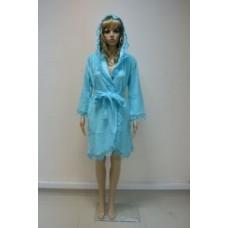 Женский халат махровый Nusa ns 031 Бирюзовый
