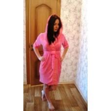 Женский халат махровый Nusa ns 029 розовый