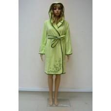 Женский халат махровый Nusa ns 00615 Салатовый