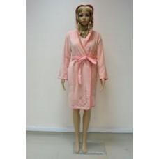 Женский халат махровый ns 00615 Персик