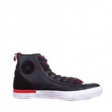 Кеды Converse Chuck Taylor All Stars High Leather Black-Red (O653)
