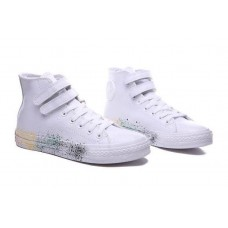 Кеды Converse Chuck Taylor All Stars High Leather Paint Белый (O657)