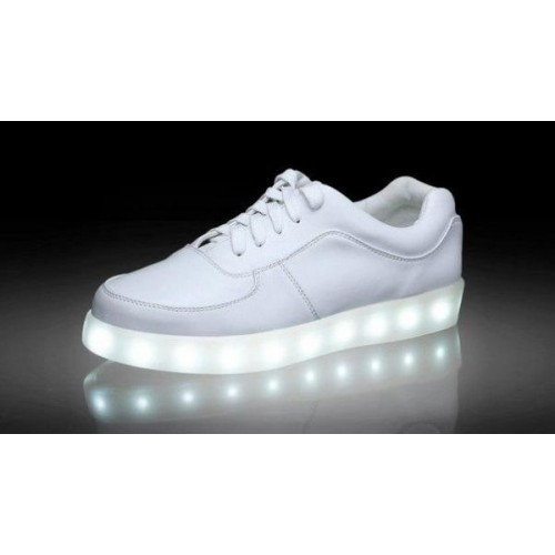 Кроссовки с LED подсветкой Белые (К-311)