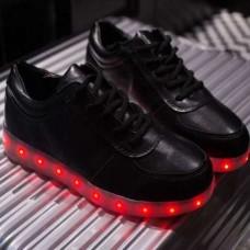 Кроссовки с LED подсветкой Черные (К-322)