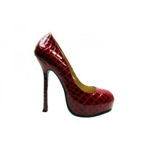 Туфли Yves Saint Laurent Красный/желт (О-212)