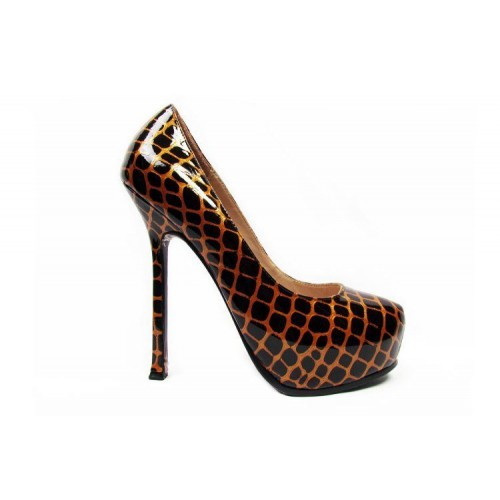 Туфли Yves Saint Laurent Коричневый (О-214)