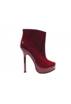Ботильоны Yves Saint Laurent Красный (О-227)