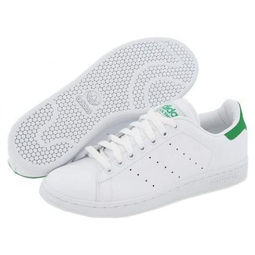 Кроссовки Adidas Stan Smith Белый/зеленый (MЕW011)