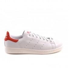 Кроссовки Adidas Stan Smith Белый/красный (ЕW012)