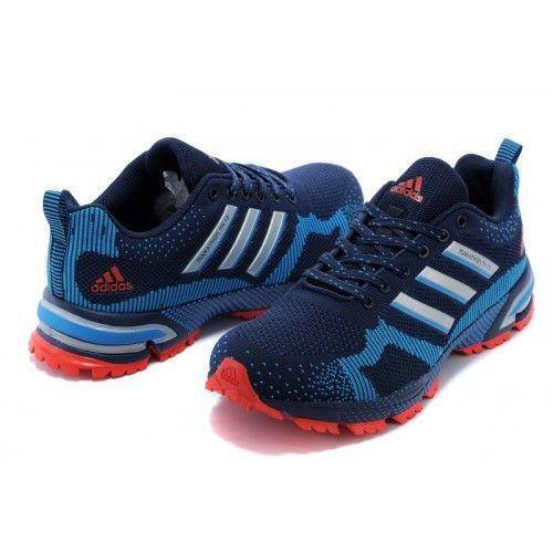 Кроссовки Adidas Marathon Flyknit Синие (ОК-514)