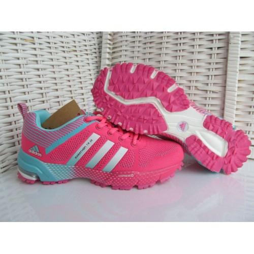 Кроссовки Adidas Marathon Flyknit Розовый (К-517)