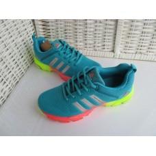 Кроссовки Adidas Marathon Flyknit Голубые (К-518)