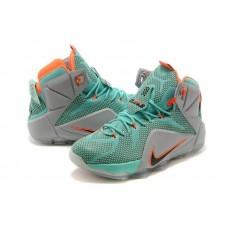 Кроссовки Nike Lebron 12 Зеленый (О-215)