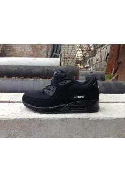 Кроссовки Nike Air Max 90 Premium Black (Е-254)