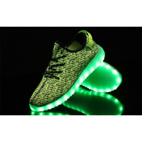 Кроссовки Adidas Yeezy Boost 350 LED Green (O-211)