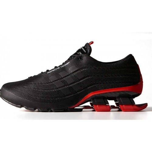 Кроссовки Adidas X Porsche Design Sport BOUNCE S4 Black Red (О-413)