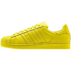 Кроссовки Adidas Superstar Supercolor PW Bright Yellow (О-128)