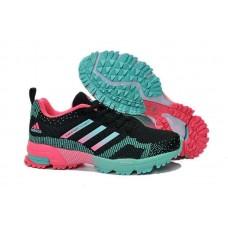 Кроссовки Adidas Marathon 10 Черно-розовые (О-431)