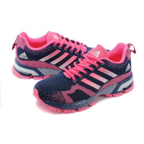 Кроссовки Adidas Marathon 13 Черно-розовые (О-432)
