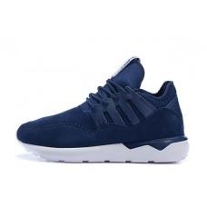 Кроссовки Adidas Tubular Moc Runner Suede Blue (О-321)