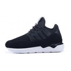 Кроссовки Adidas Tubular Moc Runner Suede Black (О-322)
