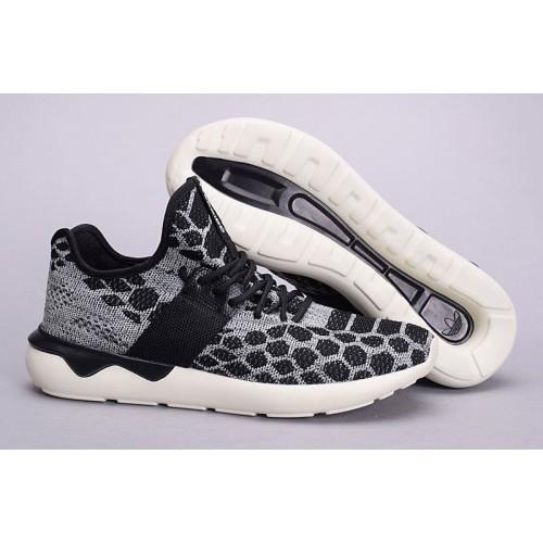 Кроссовки Adidas Tubular Runner Primeknit Stone Black (О-371)