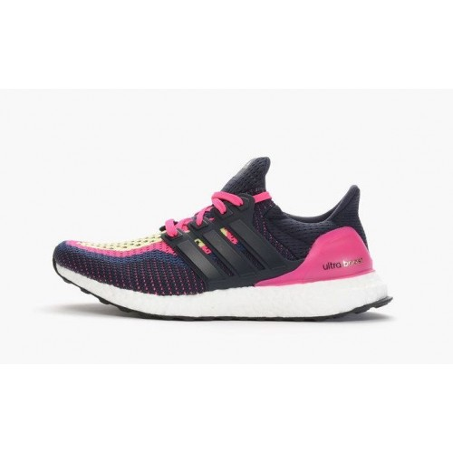 Кроссовки Adidas Ultra Boost Navy Pink (О-322)