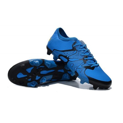 Кроссовки Adidas X 15.1 FG Blue Black (O-323)