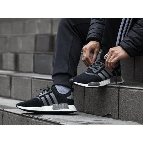 Кроссовки Adidas NMD Runner PK Серые (W-111)