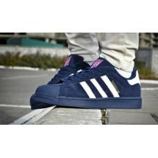 Кроссовки Adidas Superstar Синие (V-124)