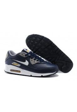 Кроссовки Nike Air Max 90 Premium LTR Obsidian/White/Wolf (О-124)