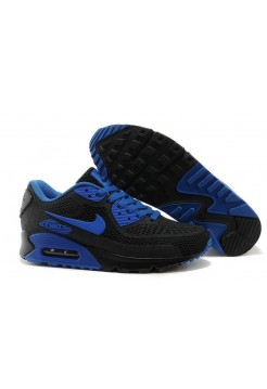 Кроссовки Nike Air Max 90 GL Black Blue (О-353)