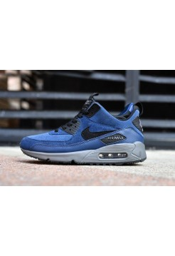 Кроссовки Nike Air Max 90 Sneakerboot Blue Black (ОЕ364)