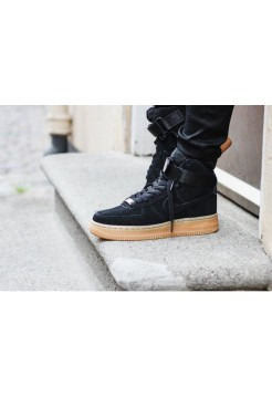 Кроссовки Nike Air-Force High Coal Black (О-212)