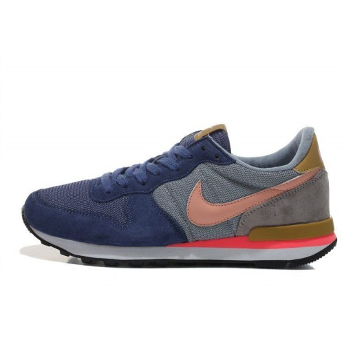 Кроссовки Nike Internationalist Blue Orange (О-125)