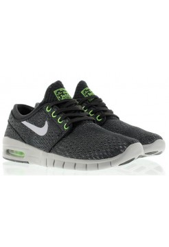 Кроссовки Nike SB Stefan Janoski Max Wolf Grey-Flash Lime (О-217)