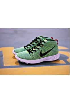 Кроссовки Nike Lunar Flyknit Chukka Зеленые (О-241)