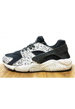 Кроссовки Nike Air Huarache Черно/белые (О-713)