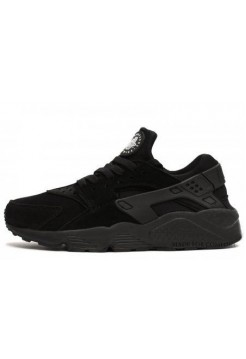 Кроссовки Nike Air Huarache All Black Suede (ОV-714)