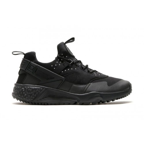 Кроссовки Nike Air Huarache Utility All Black (ОЕ715)