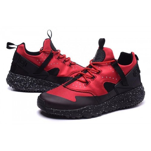 Кроссовки Nike Air Huarache Utility Black Red (О-716)